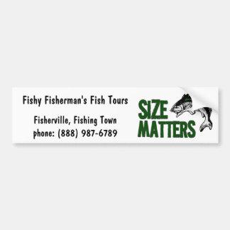 La pêche drôle voyage ou fournit des affaires autocollant de voiture