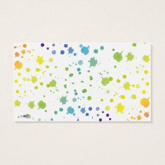 La peinture de couleur s'égoutte la carte carte de visite standard