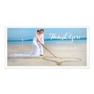 La photo de mariage de PixDezines vous remercient Cartes De Vœux Avec Photo