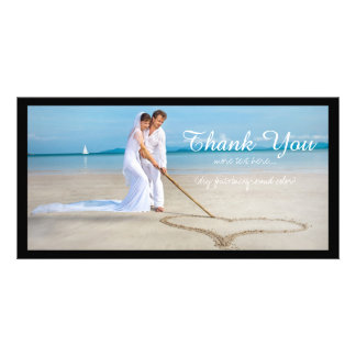 La photo de mariage de PixDezines vous remercient Modèle Pour Photocarte