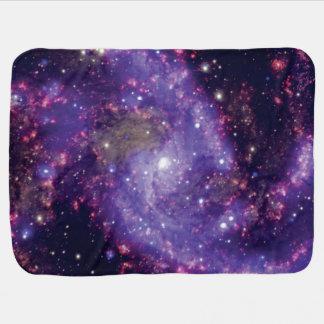 La photo d'espace extra-atmosphérique de galaxie couvertures pour bébé
