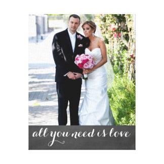 La photo faite sur commande et le ménage marié par toiles