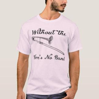 La pièce en t de base des hommes de trombone t-shirt