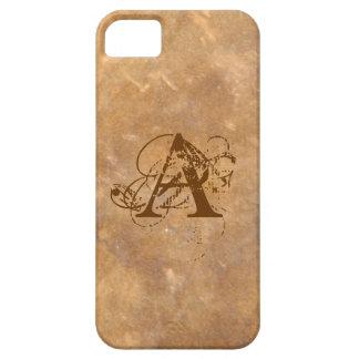 La pierre chique aiment le monogramme coques iPhone 5