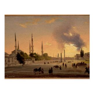La piste à Constantinople (huile sur la toile) Cartes Postales