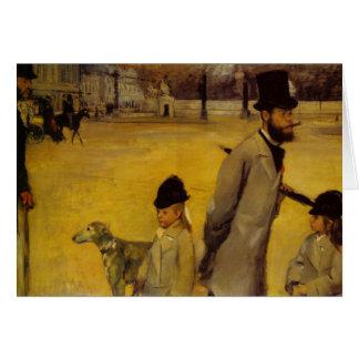 La Place de la Concorde - Edgar Degas Carte