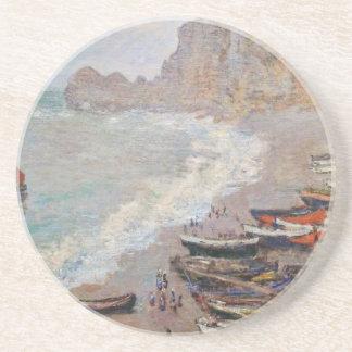 La plage chez Etretat - Claude Monet Dessous De Verre