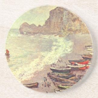 La plage chez Etretat - Claude Monet Dessous De Verres