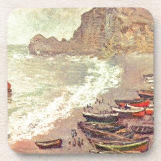 La plage chez Etretat - Claude Monet Sous-bocks