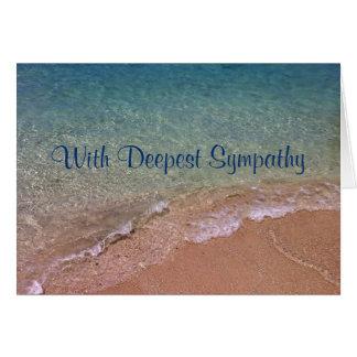 La plage ondule la carte de sympathie
