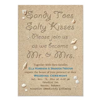 La plage Sandy botte le faire-part de mariage salé