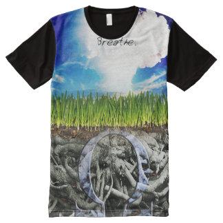 La pleine copie de la meilleure qualité respirent t-shirt tout imprimé