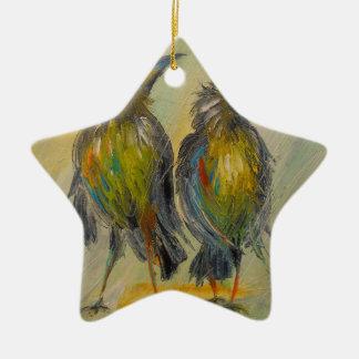 La pluie très attendue pour les corneilles ornement étoile en céramique