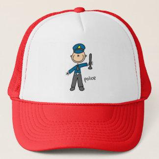 La police colle la figure casquette