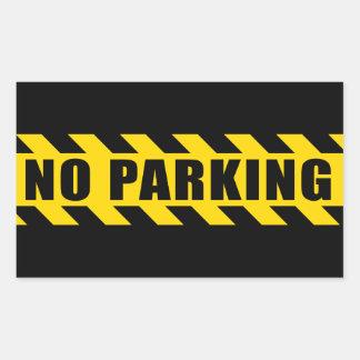 La police de stationnement interdit met en danger sticker rectangulaire