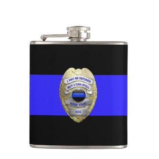 La police retirée drôle mince de Blue Line Badge Flasques