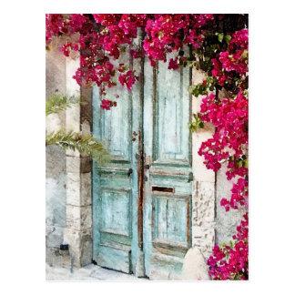 La porte de cottage carte postale