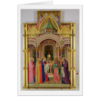 La présentation dans le temple, 1342 (tempera sur  carte de vœux