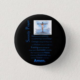 La prière B.C de sérénité Badge Rond 2,50 Cm