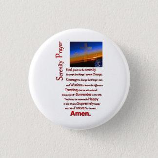 La prière de sérénité en rouge de l'espace badge rond 2,50 cm