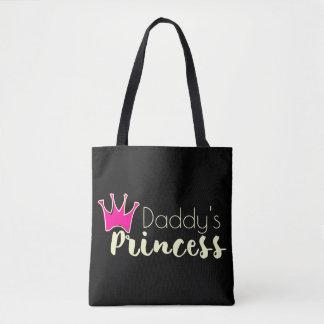 La princesse du papa avec la couronne rose tote bag