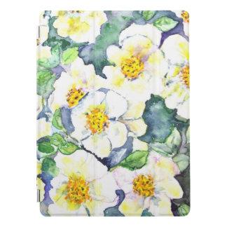 La pro aquarelle 12,9 de couverture d'IPad fleurit Protection iPad Pro