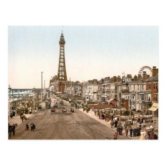 La promenade, Blackpool, Angleterre Carte Postale