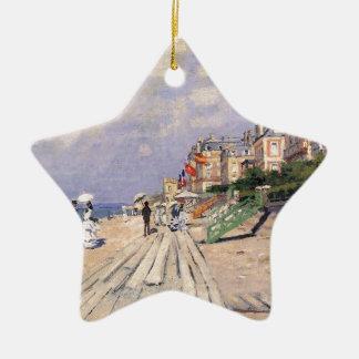 La promenade chez Trouville Claude Monet Ornement Étoile En Céramique