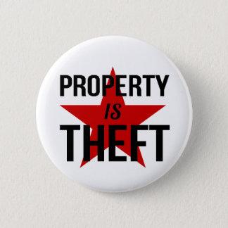 La propriété est vol - communiste socialiste badge rond 5 cm