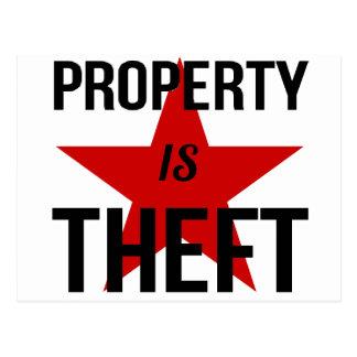 La propriété est vol - communiste socialiste carte postale