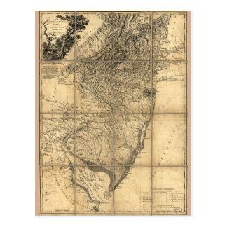 La province de la carte de New Jersey (1778)