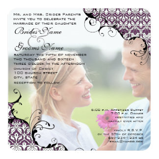 La prune votre mariage de photo m'invitent carton d'invitation  13,33 cm