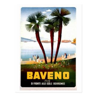 La publicité italienne vintage de voyage de Baveno Cartes Postales