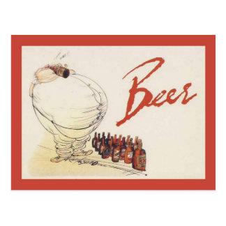 La publicité vintage de reproduction, bière carte postale