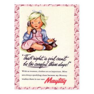 La publicité vintage, Maytag, téléphone de petite Carte Postale