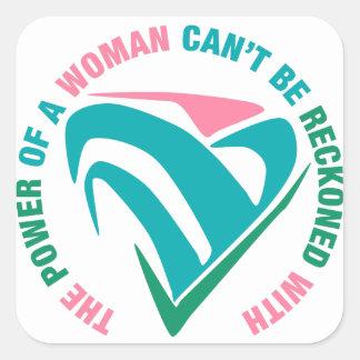 La puissance d'une pente de femme soit comptée sticker carré