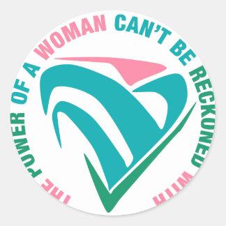 La puissance d'une pente de femme soit comptée sticker rond