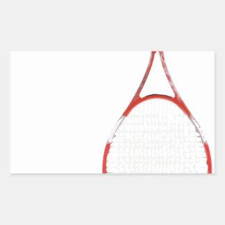 La raquette de spaghetti sticker rectangulaire