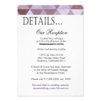 La réception géométrique de triangles détaille le  invitations personnalisées