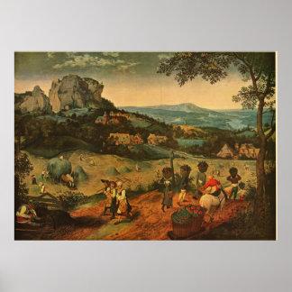 La récolte du foin de Bruegel de Pieter Bruegel -