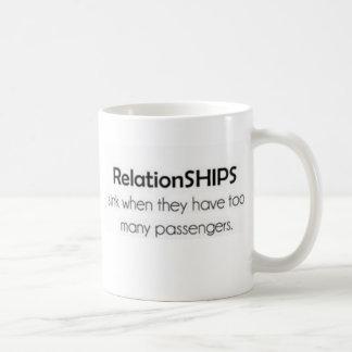 La relation embarque des tasses