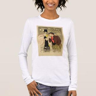 La reproduction d'une publicité par affichage t-shirt à manches longues