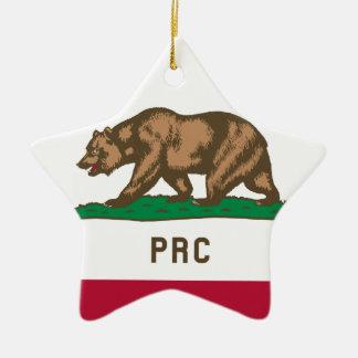 La République populaire de la Californie Ornement Étoile En Céramique