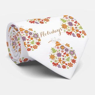Cravate La rétro cravate des hommes d'ornement de Noël