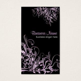 La rétro fleur élégante de lavande tourbillonne 2 cartes de visite