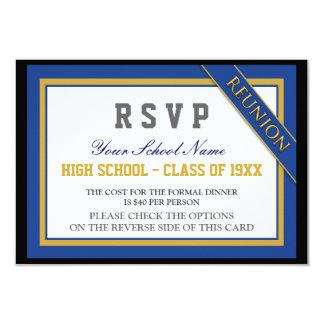 La Réunion de classe formelle chique RSVP Carton D'invitation 8,89 Cm X 12,70 Cm