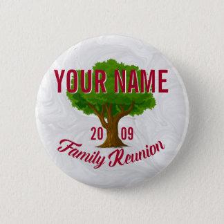 La Réunion de famille personnalisée par arbre Badge Rond 5 Cm