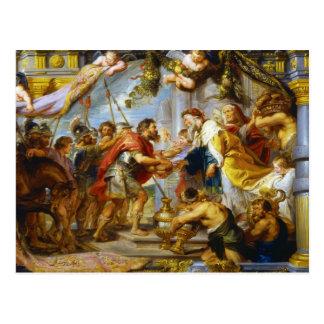 La réunion de l'art d'Abraham et de Melchizedek Carte Postale