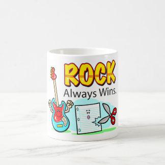 La roche gagne toujours des récipients de boissons mug blanc