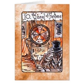 La roue de la carte de tarot de fortune